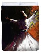 Painting 716 3 Sufi Whirl 2 Duvet Cover