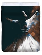 Painting 716 4 Sufi Whirl 2 Duvet Cover