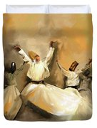 Painting 717 1 Sufi Whirl 3 Duvet Cover