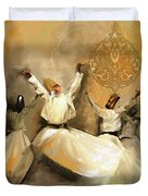 Painting 717 2 Sufi Whirl 3 Duvet Cover