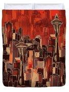 Painting 773 1 Seattle Skyline Duvet Cover
