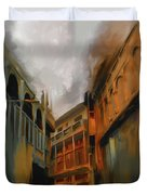 Painting 791 4 Wooden Architecture Duvet Cover