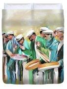 Painting 800 1 Hunzai Musicians Duvet Cover