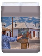 Painting Barrio Viejo Duvet Cover