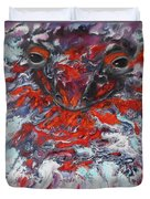 Painting Breathing Salamander In Abstract Style Duvet Cover