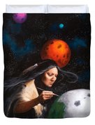 Painting Moons Duvet Cover