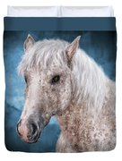 Painting Of A Brindle Horse With White Coat Duvet Cover