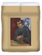 Painting Of Fr Balthasar Gracian Sj 180 Duvet Cover