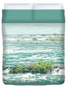 Painting Of Niagara Falls Duvet Cover