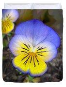 Painting Of Pansey Flower Duvet Cover