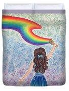 Painting Rainbow Duvet Cover