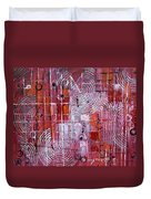 Painting The Town Red Duvet Cover