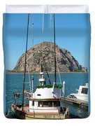 Painting The Trudy S Morro Bay Duvet Cover