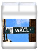 Painting Wall Street Duvet Cover