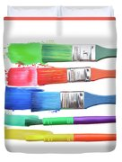 Paints And Brushes  Duvet Cover