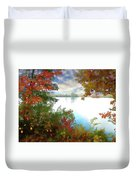 Paints Of Fall Duvet Cover