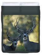 Pair Of Bucks Duvet Cover