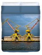 Pair Of Cranes Duvet Cover