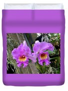Pretty Purple Orchids Duvet Cover