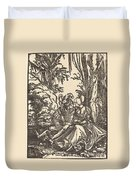Pair Of Lovers In A Landscape Duvet Cover
