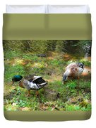 Pair Of Mallard Duck 6 Duvet Cover