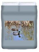 Pair Of Mallard Ducks Duvet Cover