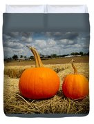 Pair Of Perfect Pumpkins Duvet Cover