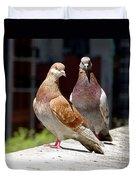 Pair Of Pigeons Duvet Cover