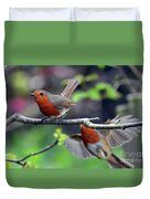 Pair Of Robins Duvet Cover