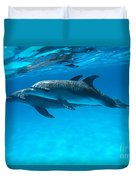 Pair Of Spotted Dolphins Duvet Cover