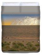 Pakefield Beach Sunset Duvet Cover