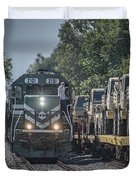 Pal Military Train Roll-by Duvet Cover