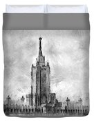Palace Of Culture And Science Duvet Cover