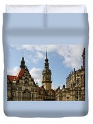 Palace Square In Dresden Duvet Cover by Christine Till