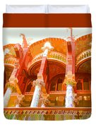 Palau De La Musica Catalana Window Duvet Cover