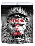 Palazzo Pitti Firenze Lion Duvet Cover