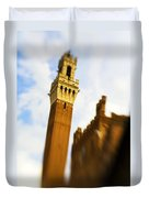 Palazzo Pubblico Tower Siena Italy Duvet Cover