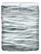 Pale Aqua Water Ripples Duvet Cover