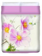Pale Pink Anemone Duvet Cover