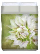 Pale Pink Clematis Duvet Cover