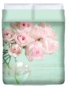 Pale Pink Roses Duvet Cover
