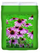Pale Purple Coneflowers Duvet Cover