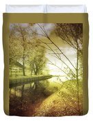 Pale Reflections Of Life Duvet Cover