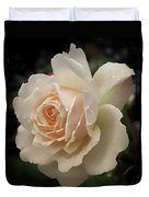 Pale Yellow Rose After The Rain - Glow Duvet Cover