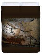 Paleolithic Art Of Bulls On Calcite Duvet Cover