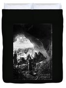 Palestine: Cave Dwelling Duvet Cover