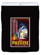 Palestine Travel Poster Duvet Cover