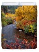 Palisades Creek Canyon Autumn Duvet Cover