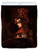 Pallas Athena  Duvet Cover by Rembrandt