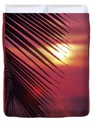 Palm At Sunset Duvet Cover